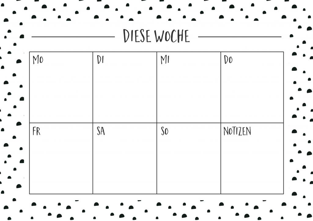Wochenplan, To Do Liste & Notizenliste Freebie | Wunderschönes Chaos