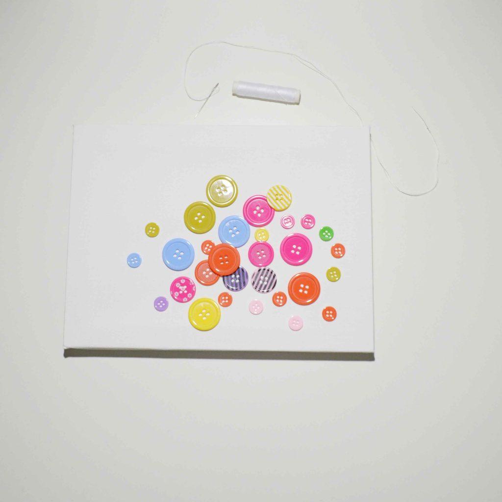 Leinwand mit Knöpfen DIY Foto-Display