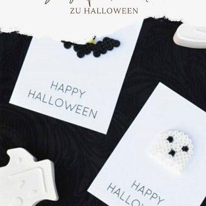 Bügelperlenkarten Halloween