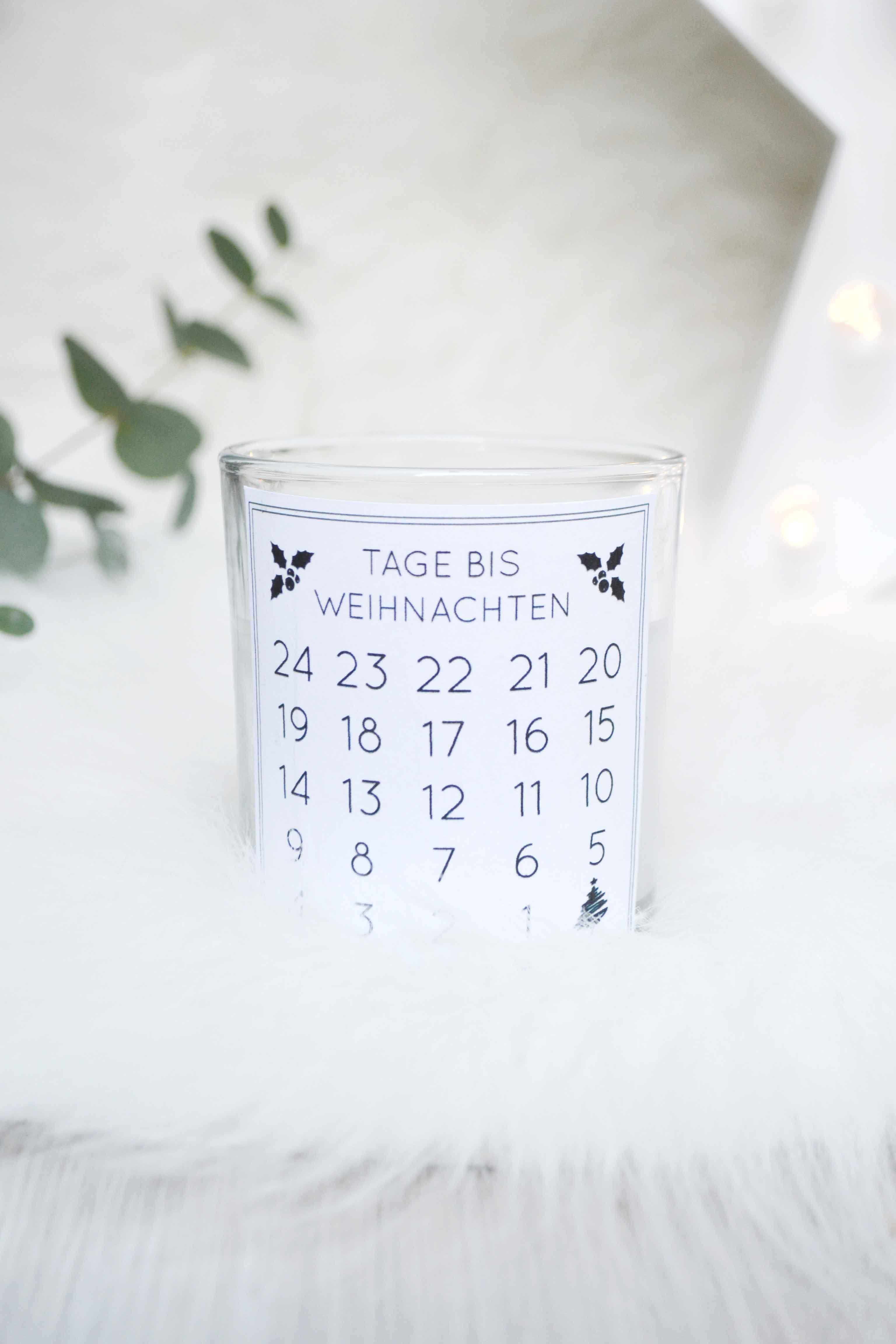 Countdown-Kerze für die Adventszeit