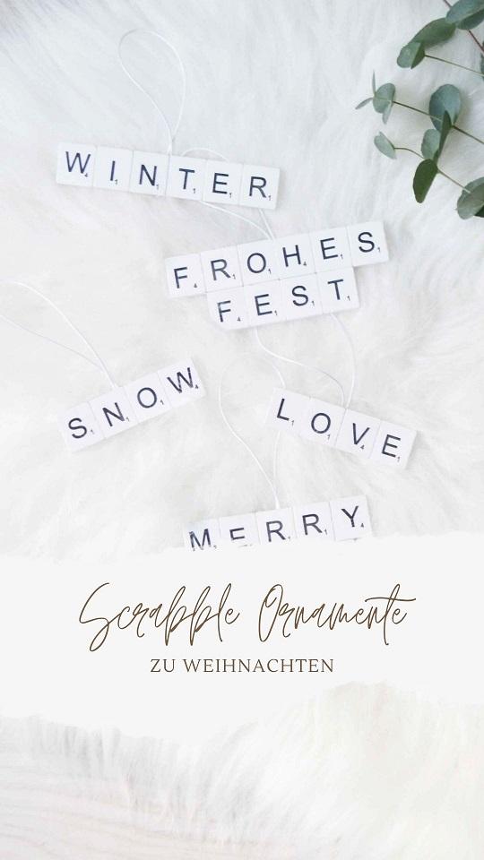 DIY Scrabble Weihnachtsornamente