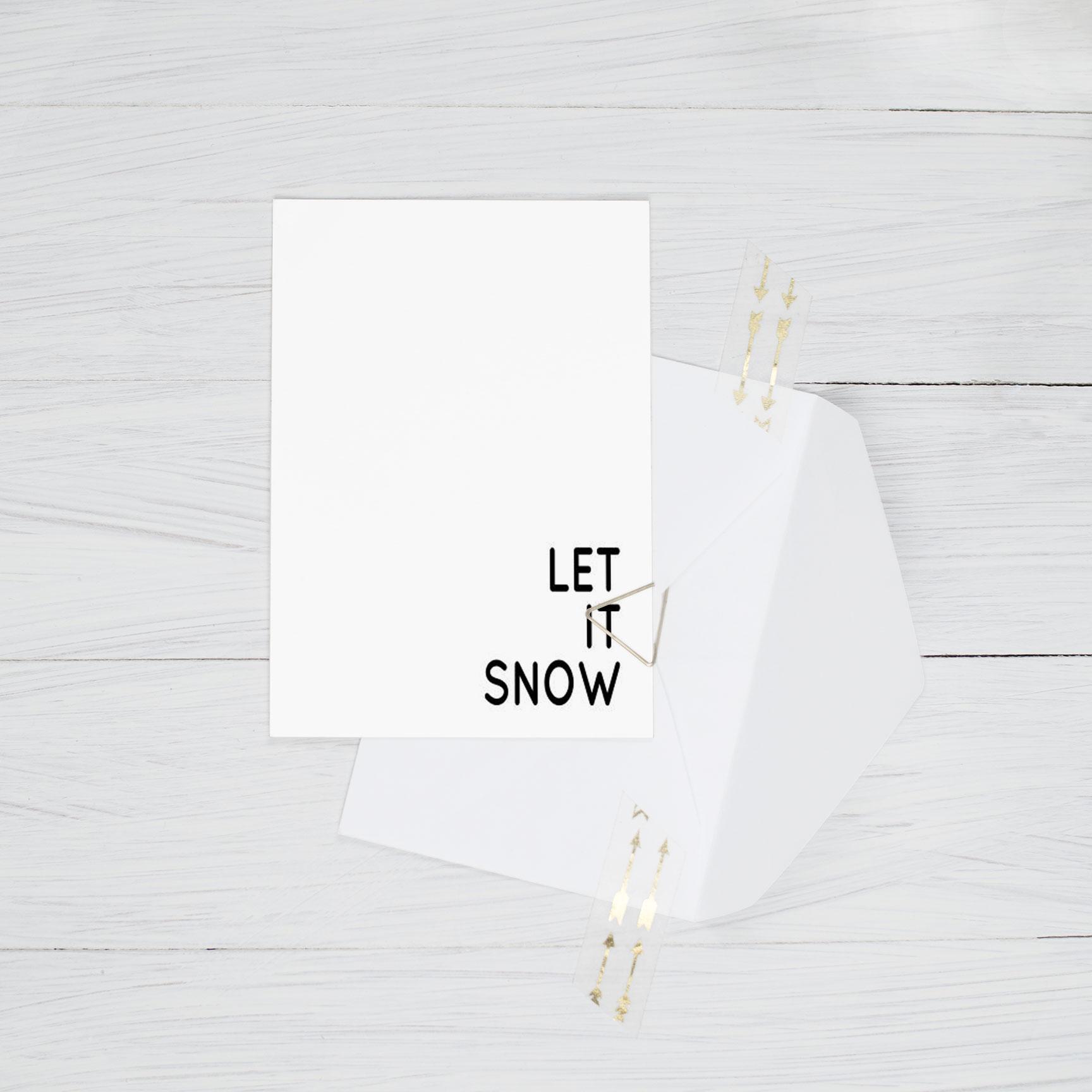 Minimalistische Weihnachtskarten