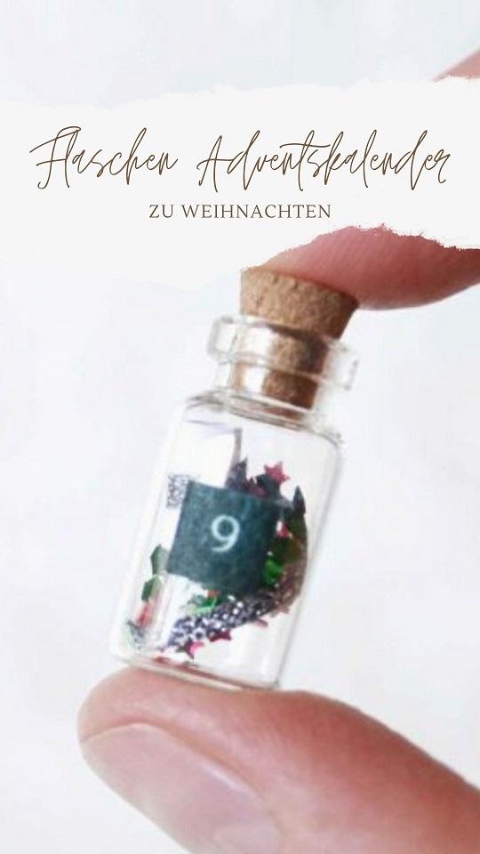 Flaschennachricht Adventskalender