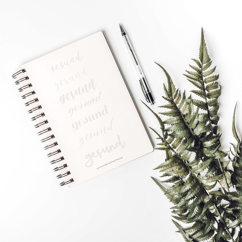 Lettering Übungblatt