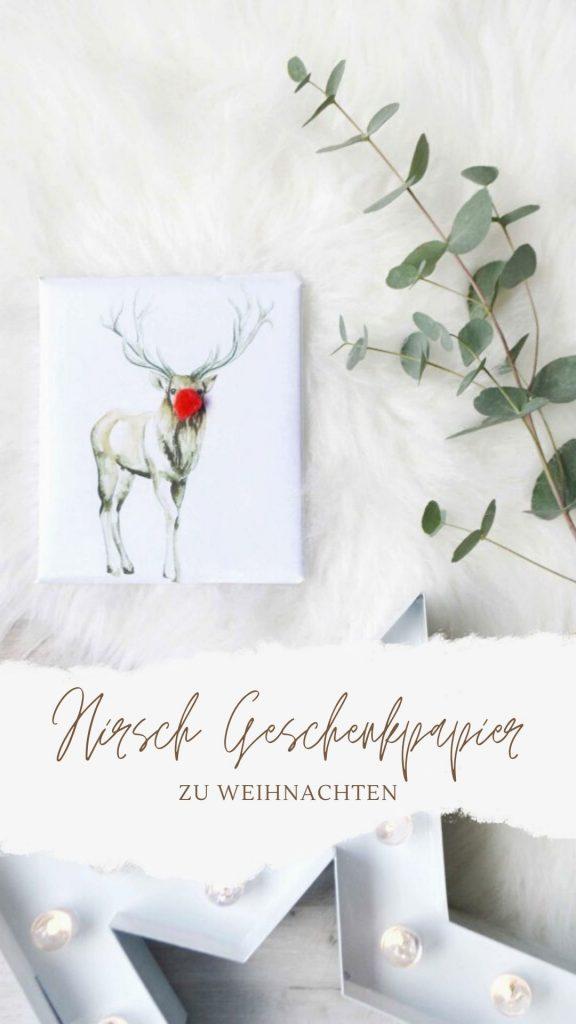 Hirsch-Geschenkpapier