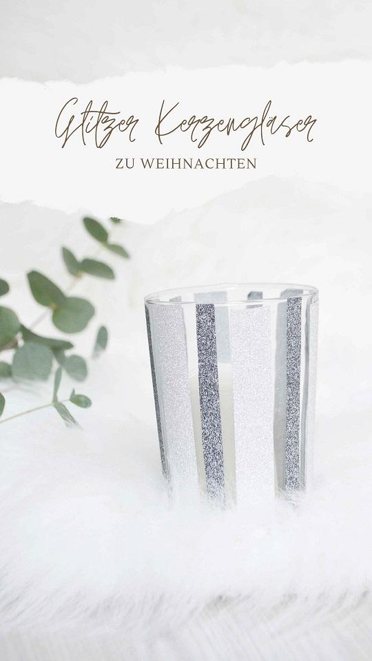 DIY Glitzer Gemusterte Kerzengläser