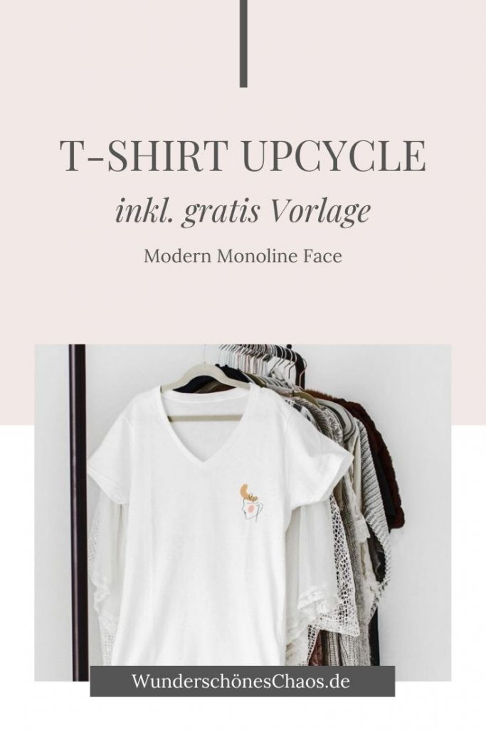 T-Shirt Upcycle Monoline Face
