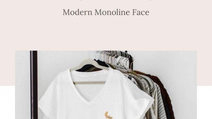 T-Shirt Upcycle Monoline Face
