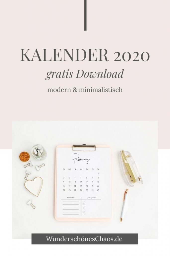Kalender 2020 - gratis Download