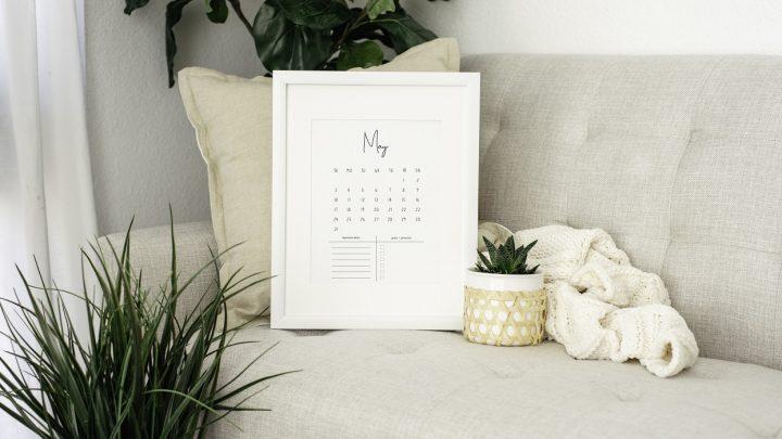 Kalender 2020 Freebie Printable