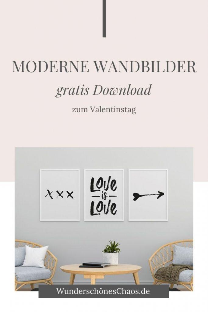 Moderne Wandbilder Valentinstag