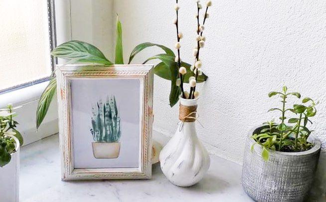 Farmhouse Bilderrahmen & Vase