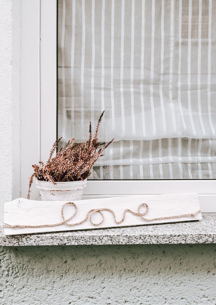 Upcylcing Idee Holzbild zum Valentinstag