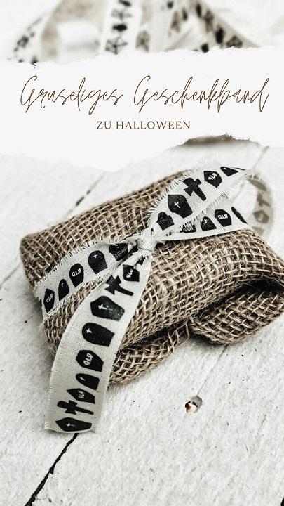 Geschenkband Halloween