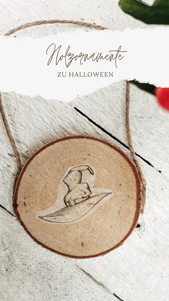 Holzornamente zu Halloween