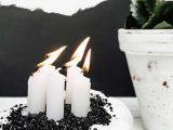Kürbis-Kerzenhalter