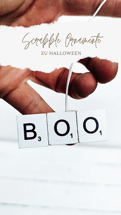 Scrabble Halloween Ornamente