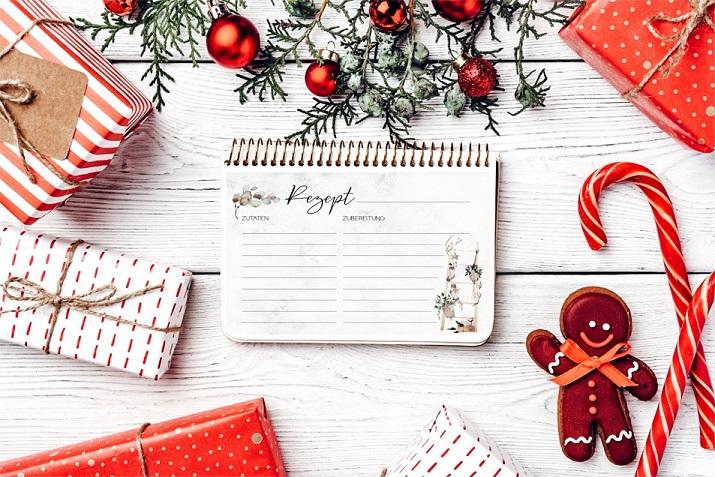 Rezeptkarten zu Weihnachten