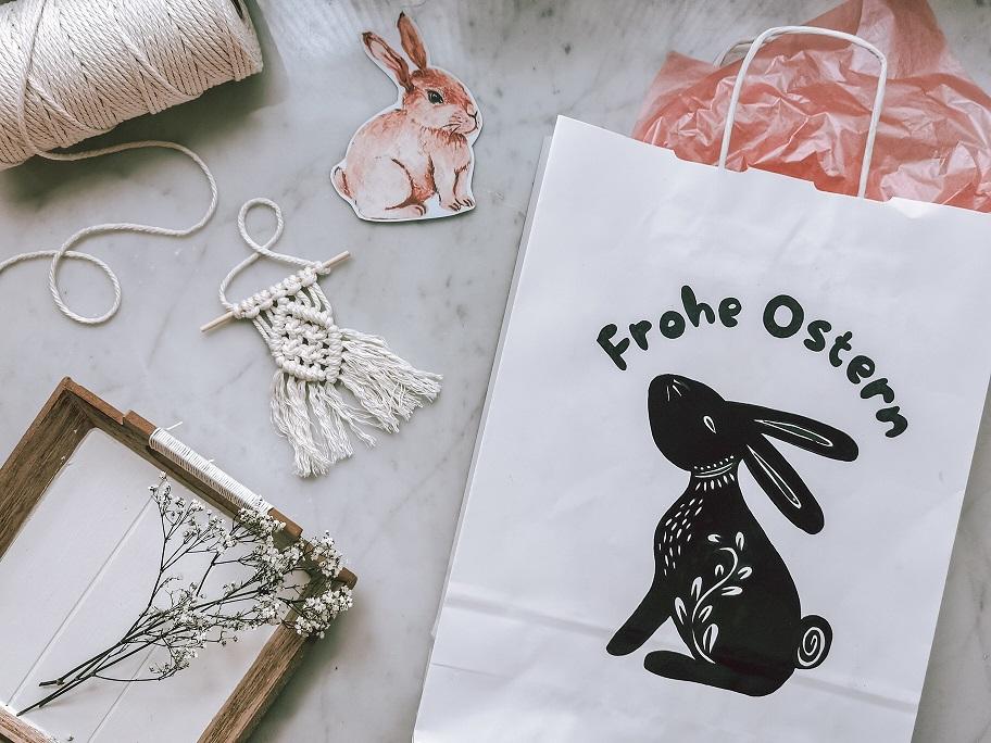 Papiertüten zu Ostern verschönern