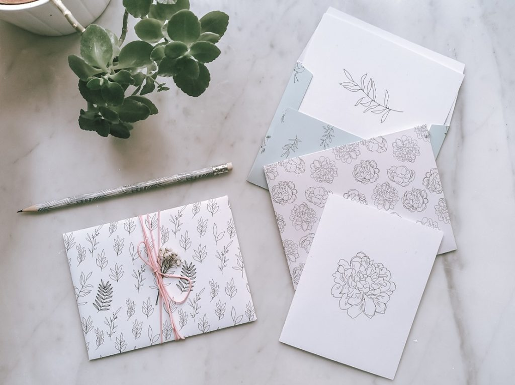 DIY Karten & Briefumschläge zum Ausdrucken