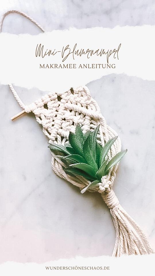Makramee Mini-Blumenampel