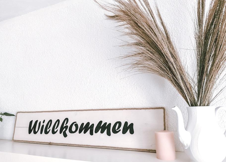 DIY Willkommen Schild Anleitung