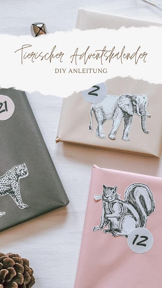 DIY Anleitung Tierischer Adventskalender